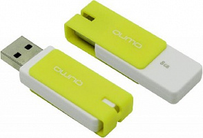 Флеш диск Qumo 8gb Click Lemon