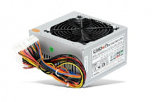 Блок питания Crown Cm-Ps400w Plus (20+4in, 120mm Fan, Sata*2, Pata(big Molex)*3, Fdd*1, 4+4pin, Line